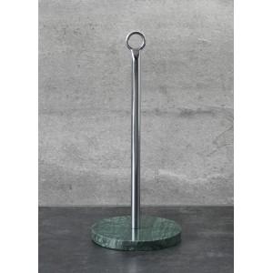 STOJAK NA RĘCZNIKI PAPIEROWE STAL / MARMUR H30cm
