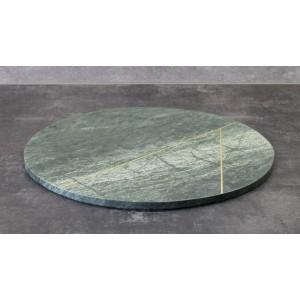 DESKA DO KROJENIA okrągła zielona ŚR. 30cm