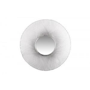 LUSTRO okrągłe ALUMINIUM srebrne 81cm