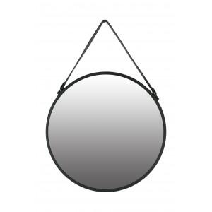 lustro okrągłe na pasku śr 50 cm czarne z paskiem