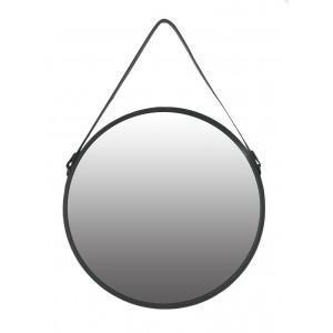 lustro okrągłe na pasku śr 65 cm czarne z paskiem