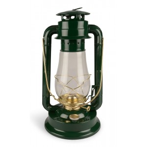 LAMPA NAFTOWA metalowa zielona XL
