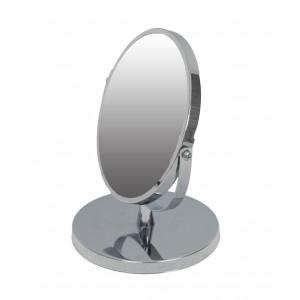 LUSTRO stojące METALOWE srebrne 22cm