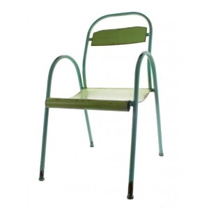 krzesło metalowe zielone 88cm