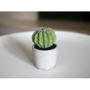 DONICA CERAMICZNA ze sztucznym kaktusem 13cm