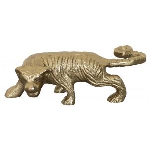 FIGURKA aluminiowa TYGRYS kolor złoty
