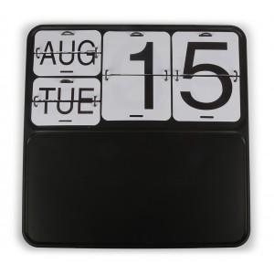 kalendarz wieczny metalowy czarny 40x40cm