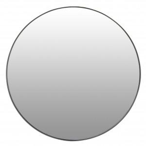 lustro ścienne okrągłe metalowe 70cm czarne