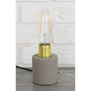 LAMPA stołowa BETONOWA szara wys. 13cm