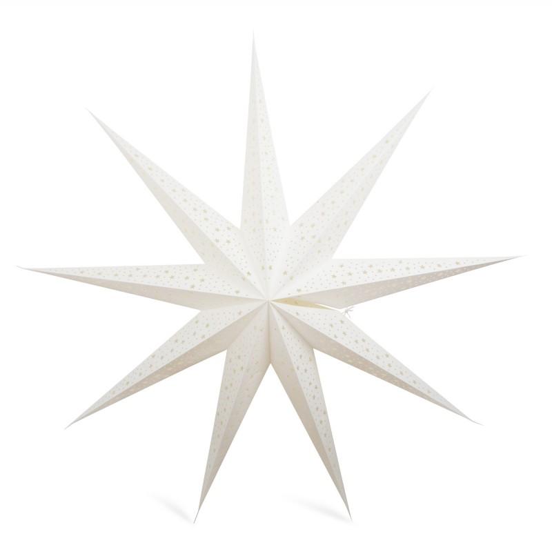 GWIAZDA papierowa 3D biała śr. 90cm