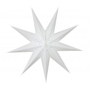 GWIAZDA papierowa 3D biała śr. 75cm