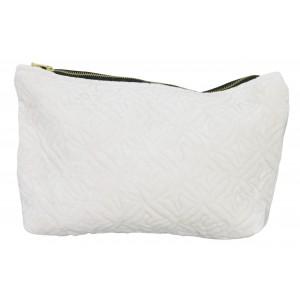 KOSMETYCZKA DAMSKA biała 30x15cm