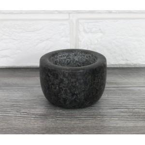 MISKA MARMUROWA czarna 8x6cm