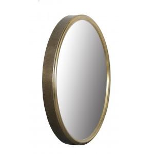 LUSTRO okrągłe METALOWE złote 80cm retro