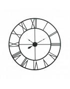Zegar ścienny retro, okrągły, metalowy